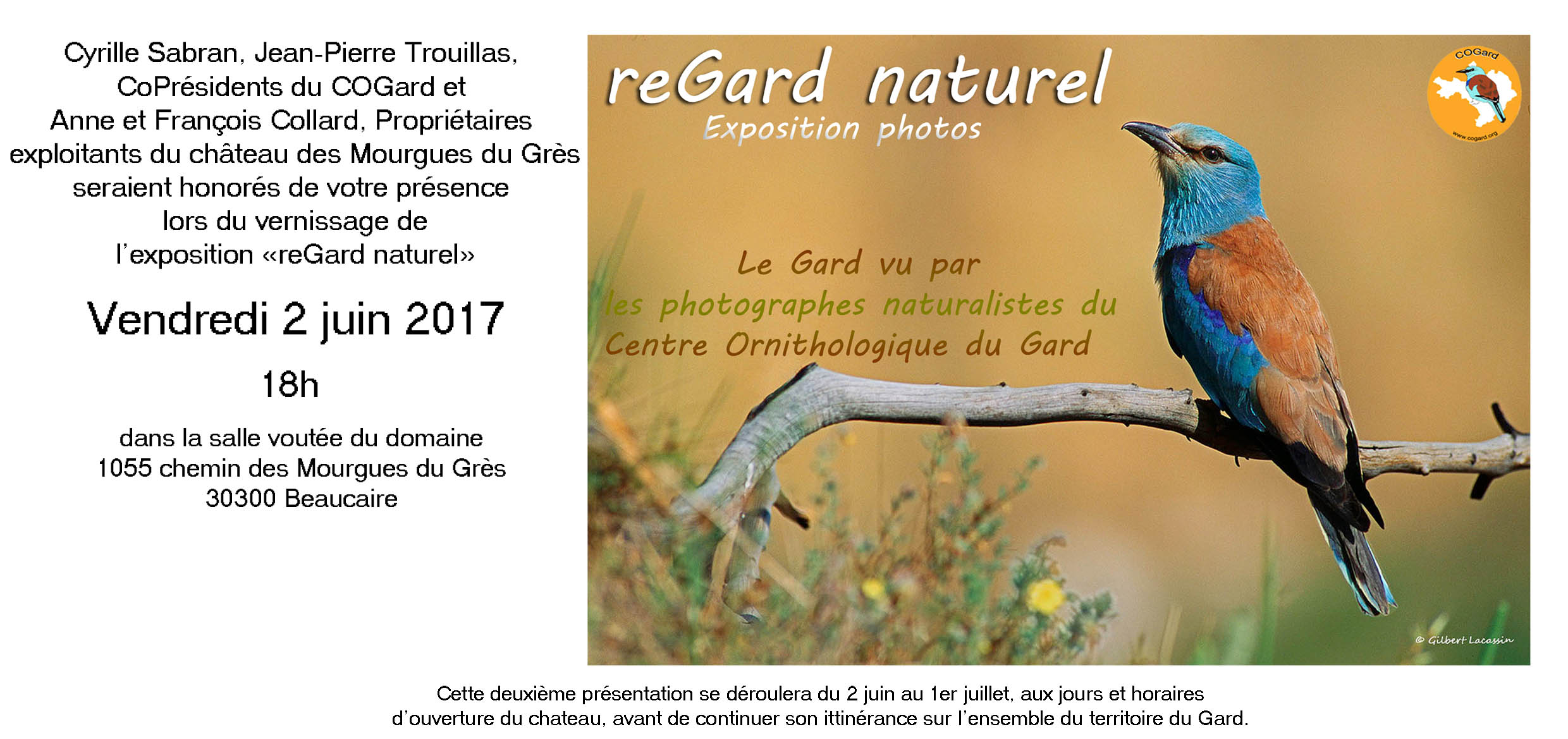 "Vernissage expo ""reGard naturel"" à Beaucaire @ Beaucaire 